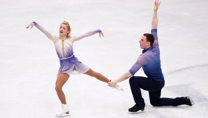 Савченко и Массо с мировыми рекордами завоевали золото ЧМ в парном катании