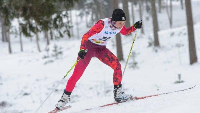 Slēpotāja Eiduka uzstāda jaunu Latvijas FIS punktu rekordu 10 kilometru distancē