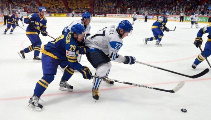 Somijas hokeja izlase pārliecinoši triumfē Eirotūres pirmajā posmā