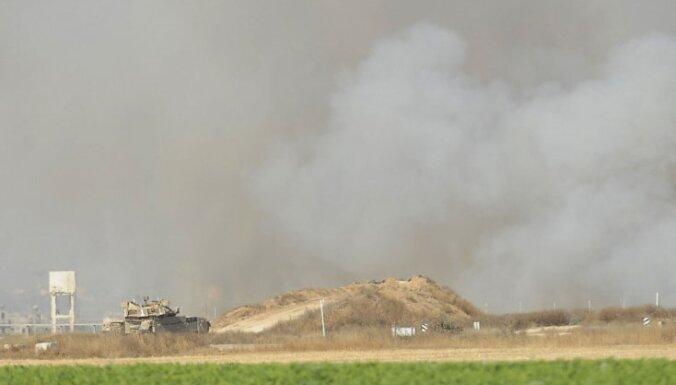 Sadursmē uz Gazas robežas nogalināts Izraēlas karavīrs un palestīnietis