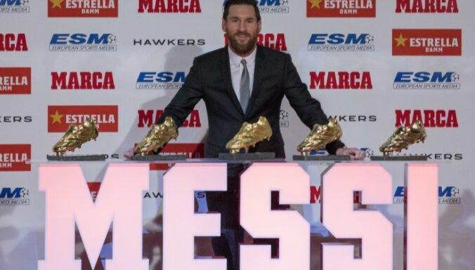 Mesi piekto reizi iegūst 'Zelta futbolzābaku' un apsteidz Ronaldu