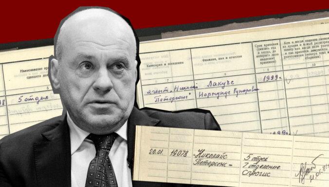 'Maisi vaļā': datubāzē 22 aģenta 'Nikolajs Pētersons' ziņojumi; Lakučs arvien noliedz apzinātu sadarbību ar VDK
