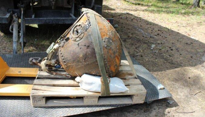 Опасная находка: в Даугаве выловили морскую якорную мину