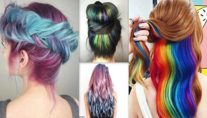 Foto: Košais krāsu mikslis matos – modes tendence, kam pakļaujas vien drosmīgākās
