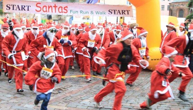 В Вецриге состоится традиционный забег Дедов Морозов