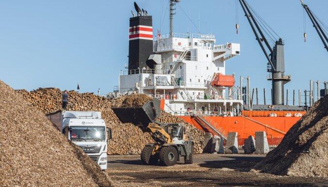 В Рижском порту наблюдается увеличение грузооборота кроме грузов угля и нефтепродуктов