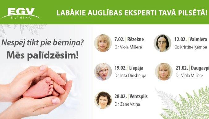 Neauglības ārstēšana reģionos – Klīnika EGV brauc pie tevis!