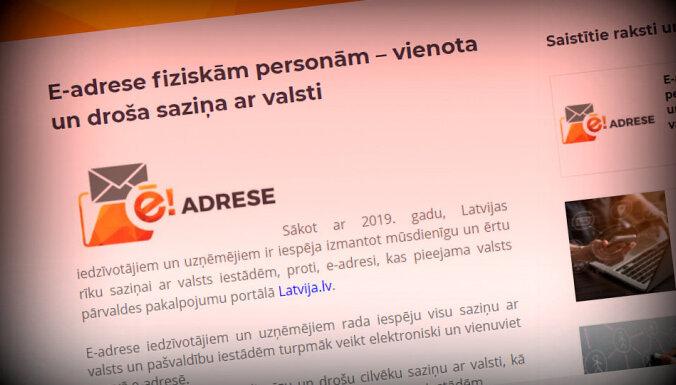 Privātpersonas gandrīz neizmanto septiņus miljonus eiro izmaksājušo sistēmu eAdrese, secina VK