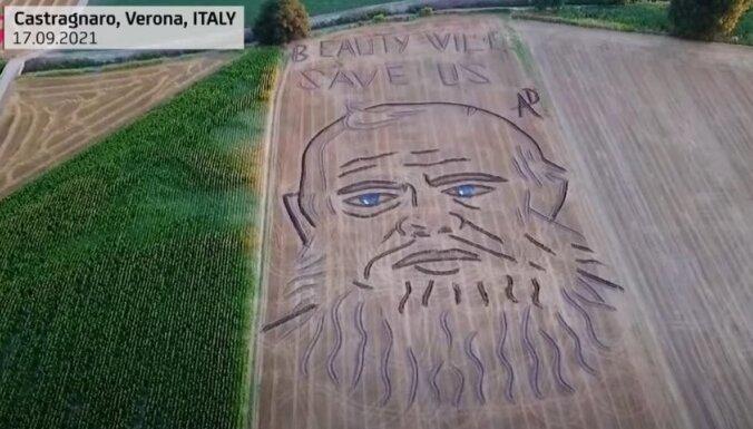 В Италии на пшеничном поле появился огромный портрет Федора Достоевского