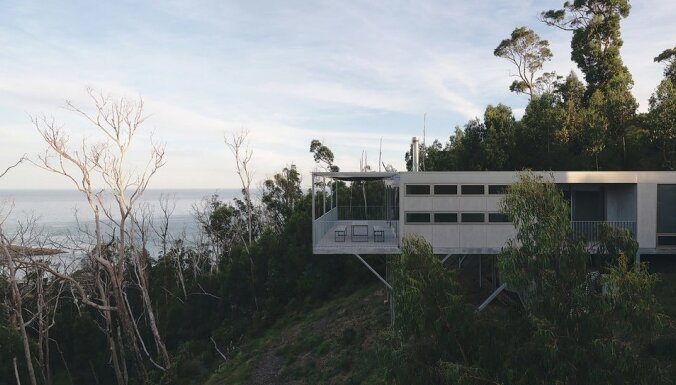Foto: Stilīgā dizaina māja Austrālijā, kurā nav nekā lieka
