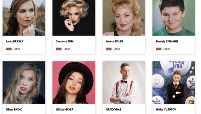 Samanta Tīna pārsteigta par savu seju Baltkrievijas 'Slāvu bazāra' mājaslapā