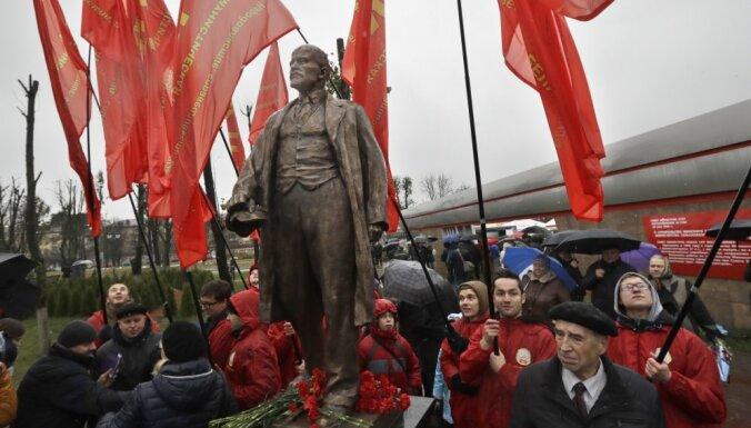 В Минске в годовщину Октябрьской революции открыли памятник Ленину