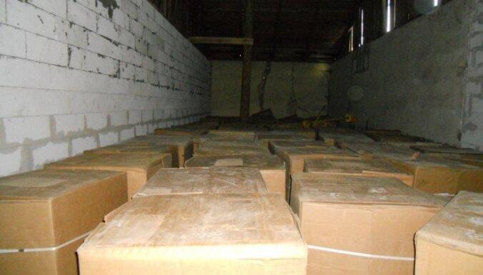 Во время обыска изъяли 10 тонн нелегального табака