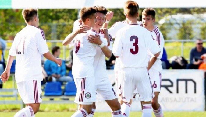 Latvijas U-16 izlasēm piektā un septītā vieta LFF Neatkarības kausā