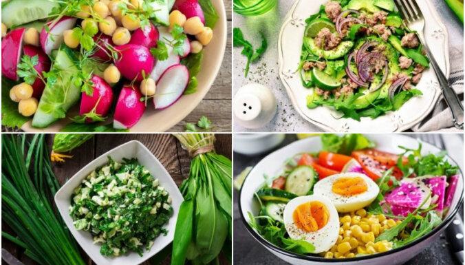 Salāti bez majonēzes un treknām mērcēm: 30 figūrai draudzīgas receptes