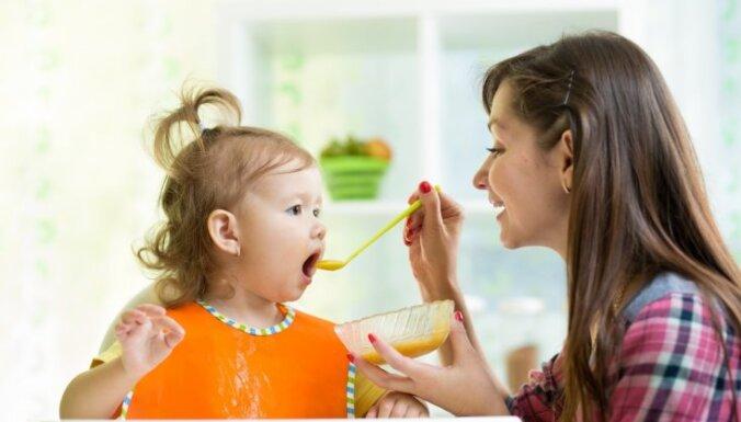 Asumiņš un bērna ēdienkarte: kad un ko drīkst dot