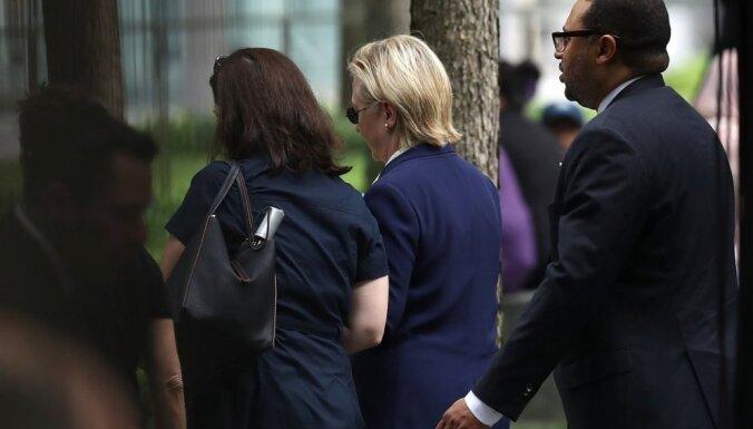 Klintone veselības problēmu dēļ pamet 11.09.2001. traģēdijas atceres pasākumu