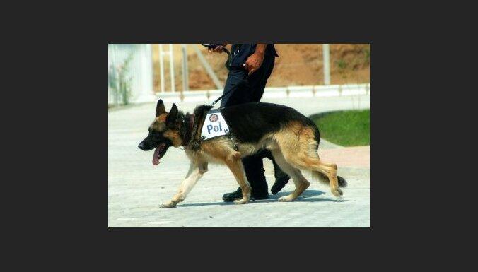 Policijas suns. Foto: Erdogan Ergun