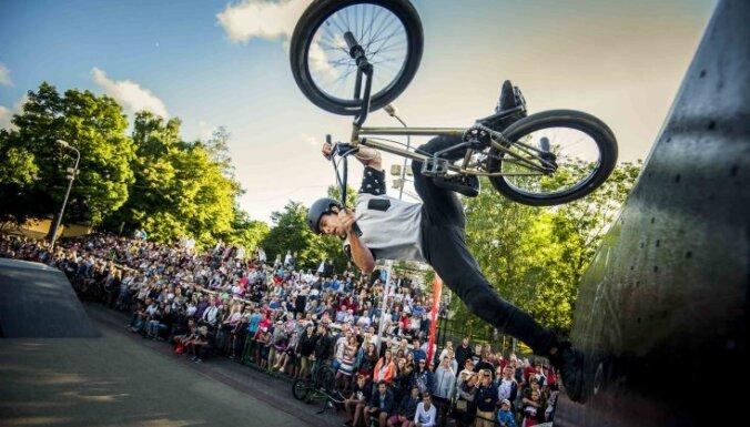 ФОТО: Спортивный фестиваль Ghetto Games собрал в Вентспилсе сотни зрителей