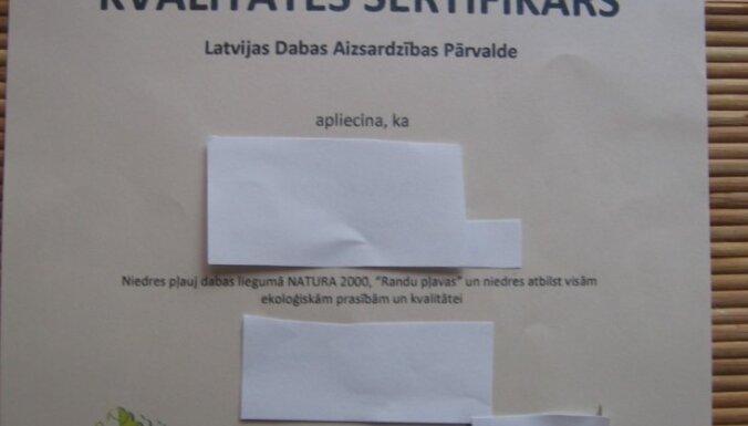 Konstatē mēģinājumu izmantot viltotu Dabas aizsardzības pārvaldes sertifikātu
