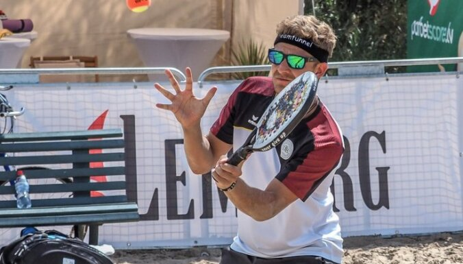 Jūrmalā aizvadīts Baltijā pirmais Eiropas čempionāts pludmales tenisā pieaugušajiem