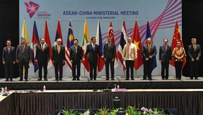 Ķīna vēlas kopīgas militārās mācības ar ASEAN valstīm Dienvidķīnas jūrā