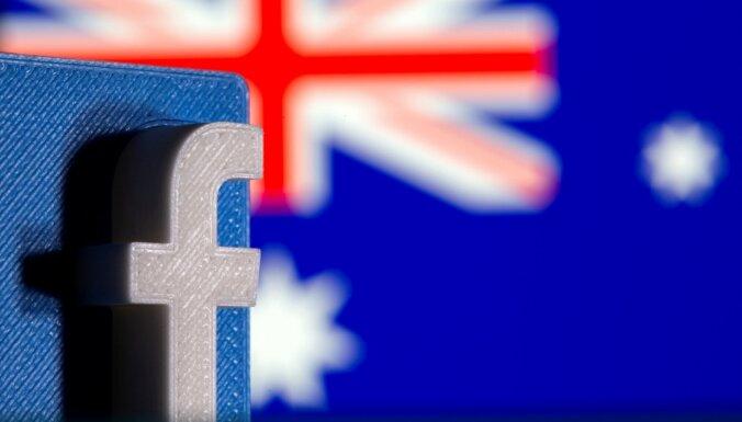 'Facebook' Austrālijas lietotājiem atjauno piekļuvi ziņām