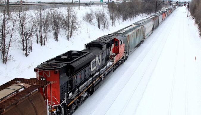 'Canadian National Railway' strādājošo streiks aptur Kanādas dzelzceļa tīkla darbību