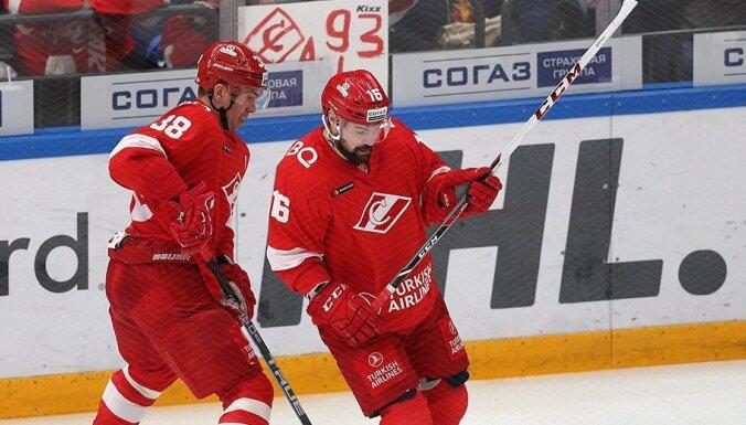 Daugaviņam vārti uzvarētā spēlē; Kalniņš nostāv 'sausā' pret CSKA