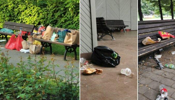 Cīņai ar netīrību un dīkdieņiem apsver likvidēt soliņus Vērmanes dārzā; pagaidām ieceri aptur