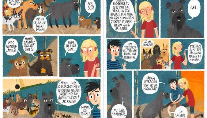 Stāsts par Maskačkas runājošajiem suņiem pārtapis komiksu grāmatā