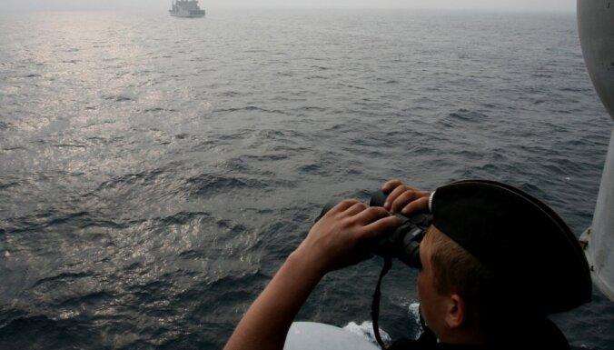 Latvijas tuvumā sestdien manīts Krievijas karakuģis