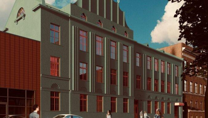 Foto: Rīgā atjaunos bijušo telefona centrāles ēku