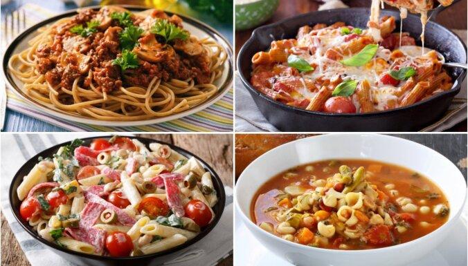 Makaronu ēdieni – no zupām līdz sacepumiem: ērti pārskatāms recepšu špikeris