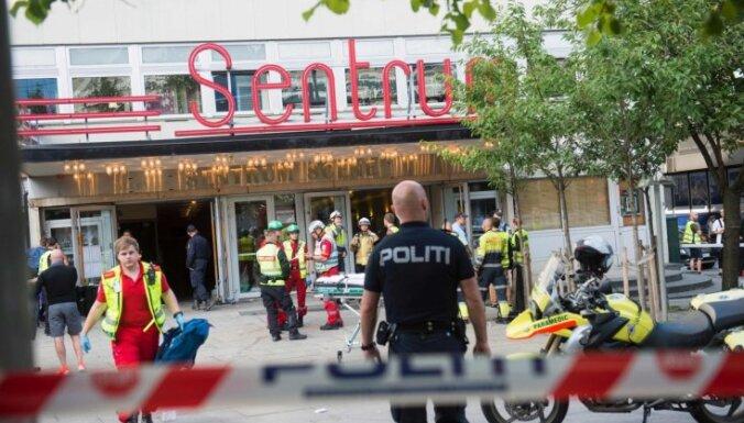 Iebrūkot koncertzāles griestiem Oslo, ievainojumus gūst 15 cilvēki