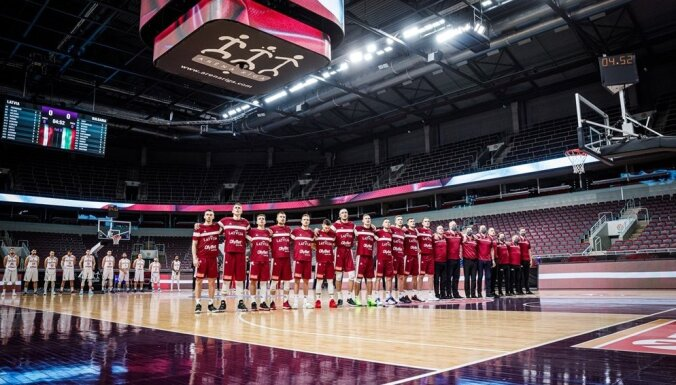 Latvijas basketbola izlase uzzina astoņus iespējamos pretiniekus PK kvalifikācijā