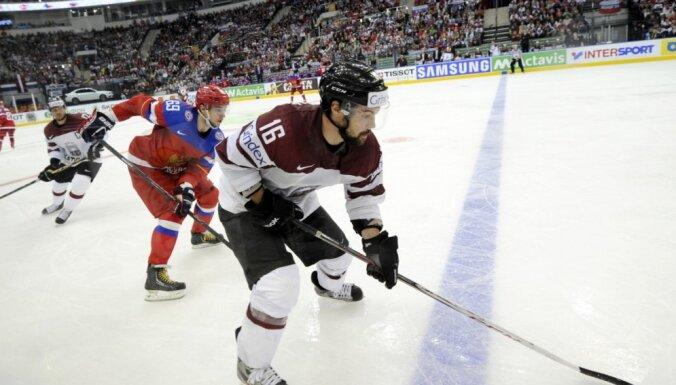 Latvijas hokejistiem cīņa pret Znaroka un Vītoliņa trenēto Krieviju
