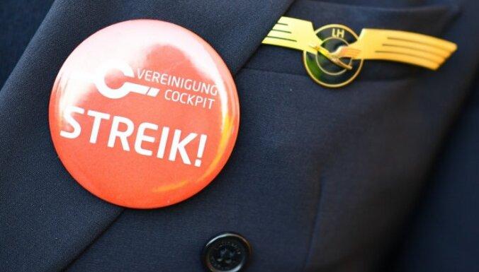 Pilotu streiks 'Lufthansa' izmaksājis 100 miljonus eiro