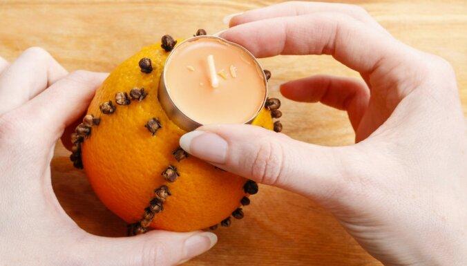 Soli pa solim: kā izveidot aromātisku apelsīnu sveci