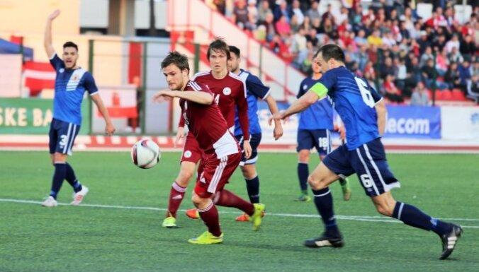 Футболисты Латвии прервали 13-матчевую безвыигрышную серию разгромом Гибралтара