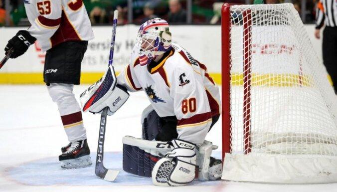 Kivlenieks atvaira 28 no 30 metieniem 'Monsters' uzvarā AHL
