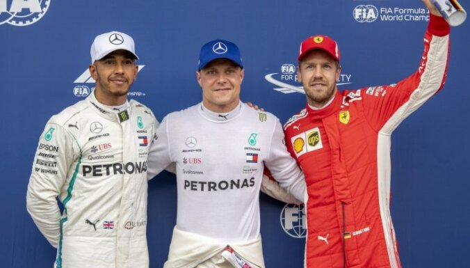 Botass uzvar F-1 Austrijas 'Grand Prix' izcīņas kvalifikācijā
