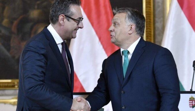Austrijas vicekanclers aicina Orbānu veidot kopīgu EP bloku