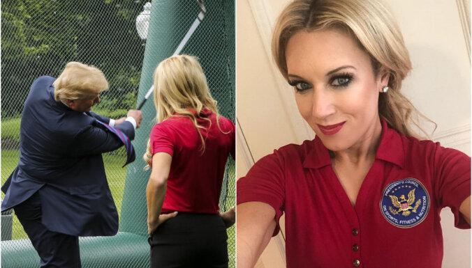 ФОТО: Американо-латвийская гольфистка Гулбис погостила у Трампа на Дне спорта в Белом доме