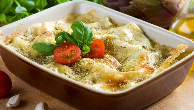 Knorr Fix receptes: Siera lazanja ar baklažāniem