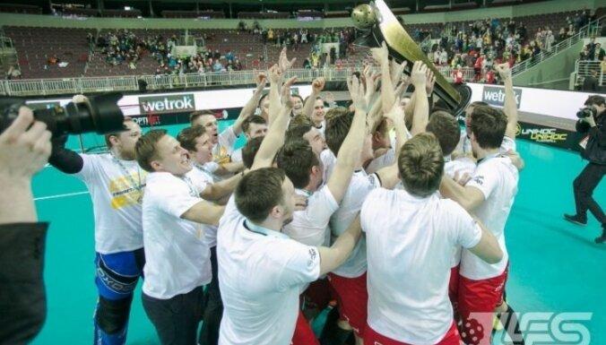 'Triobet/Ulbroka' florbolisti pirmo reizi izcīna Latvijas čempionu titulu