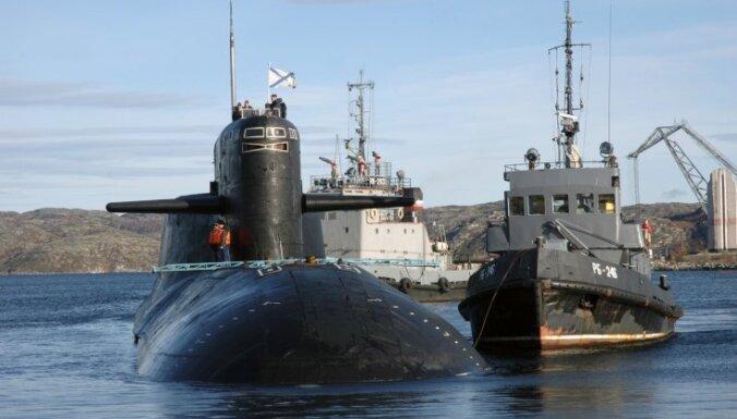 Ugunsgrēks uz atomzemūdenes 'Jekaterinburga' radiācijas līmeni nav paaugstinājis