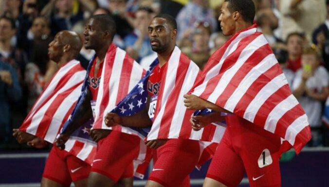 United States 4x100 m team Trell Kimmons, Justin Gatlin, Tyson Gay and Ryan Bailey