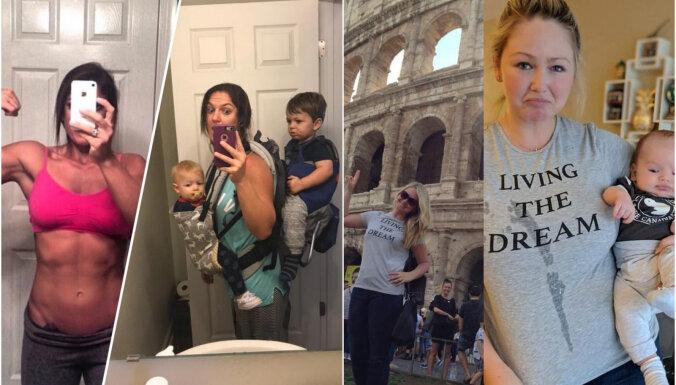Veselīga humora deva: vecāku foto pirms un pēc bērna piedzimšanas
