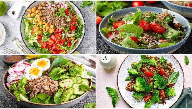 Figūrai draudzīgie griķi: 7 salāti bez majonēzes un treknām mērcēm